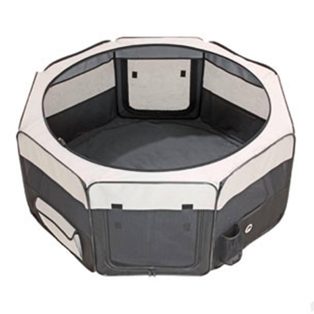 Karlie Box sklád. nylon štěně 74x74x35cm grey/black new