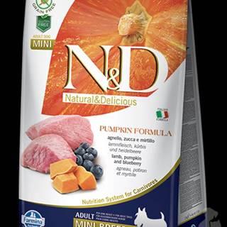 N&D GF Pumpkin DOG Adult Mini Lamb & Blueberry 800g