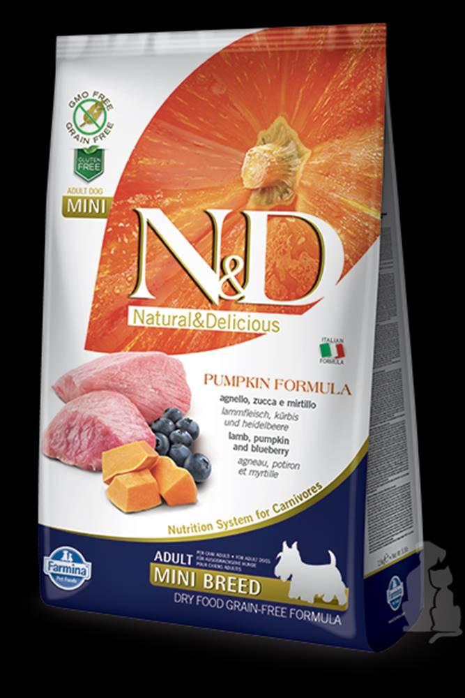 N&D N&D GF Pumpkin DOG Adult Mini Lamb & Blueberry 800g