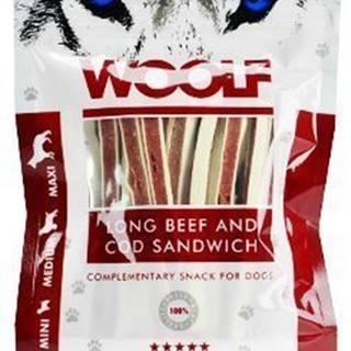 WOOLF pochúťka soft beef and cod sandwich long 100g