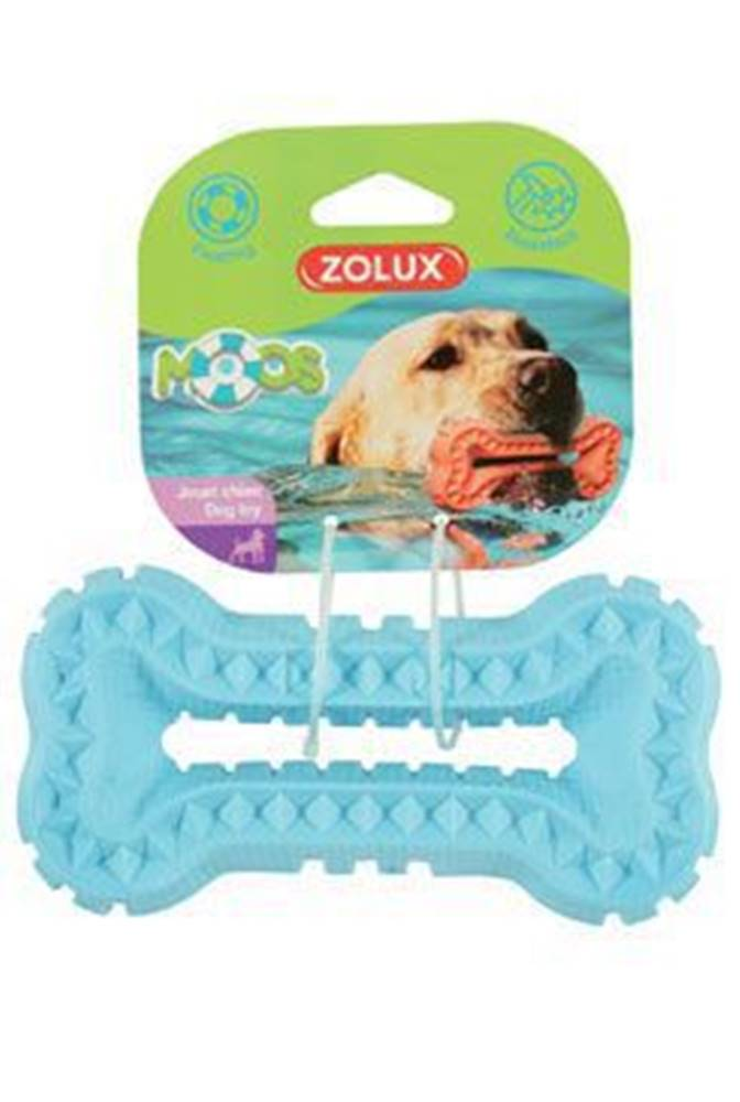 Zolux Hračka pes BONE MOOS TPR POP 16cm modrá Zolux