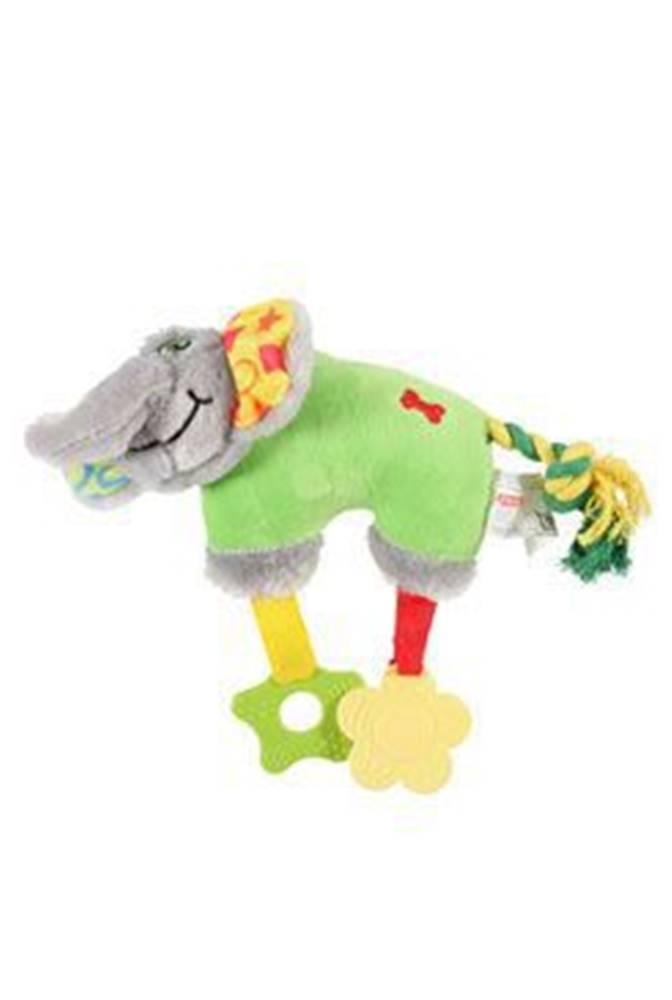 Zolux Hračka pes ELEPHANT COLOR plyš zelená 20cm Zolux