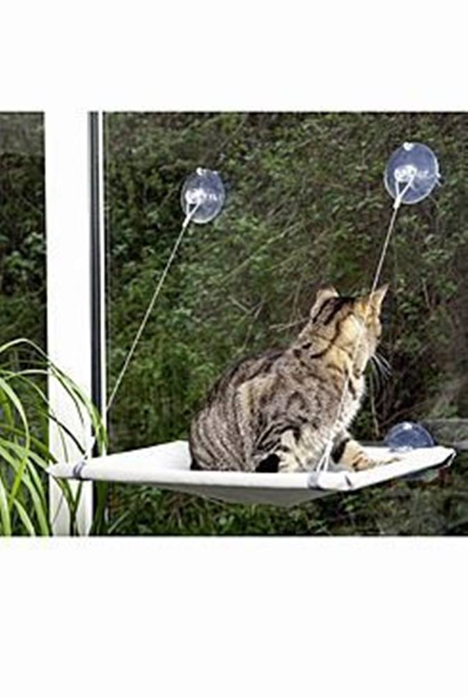 Karlie Odpočívadlo kočka okenní 51,5x31x2,5cm šedé KAR 1ks