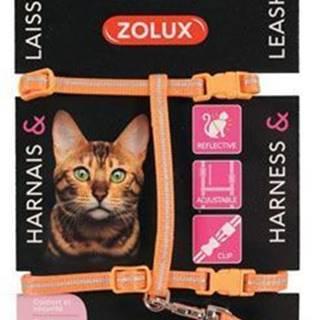 Postroj mačka s vodítkom 1,2m oranžový Zolux