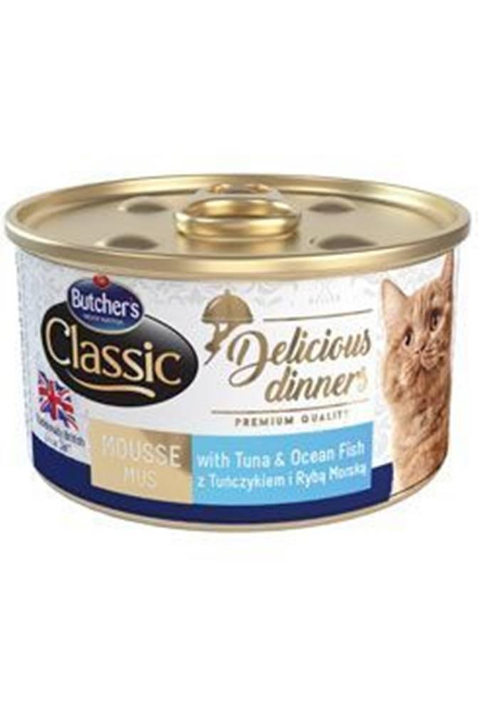 Butcher's Butcher 's Cat Class.Delic.Dinners tuniak + ryby konz85g