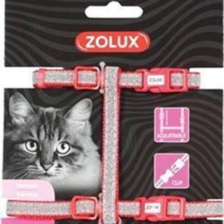 Postroj mačka SHINY nylon červený Zolux