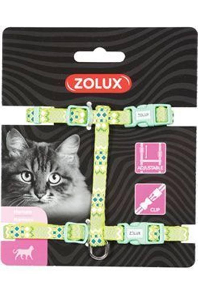 Zolux Postroj mačka ETHNIC nylon zelený Zolux