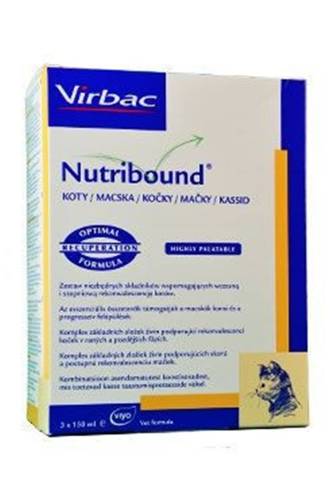 Virbac Nutribound Cat 3x150ml