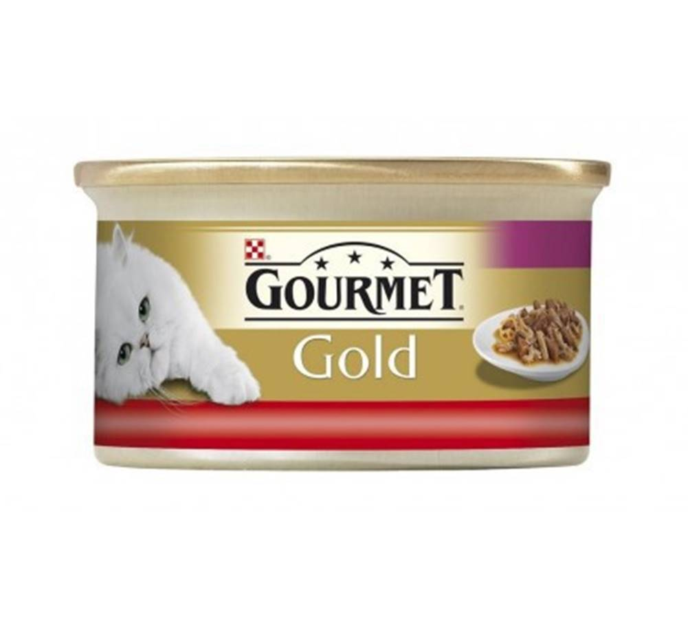 Gourmet Gourmet Gold konz. kočka jemná paštika s hovězím 85g