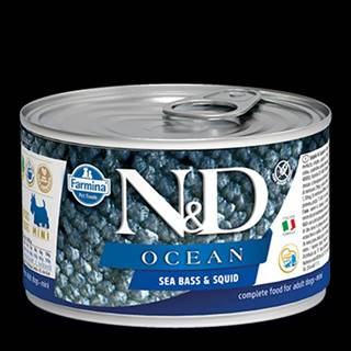 N&D DOG OCEAN Adult Sea Bass & Squid Mini 140g