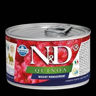 N&D DOG QUINOA Weight Mnmgmt Lamb & Brocolli Mini 140g