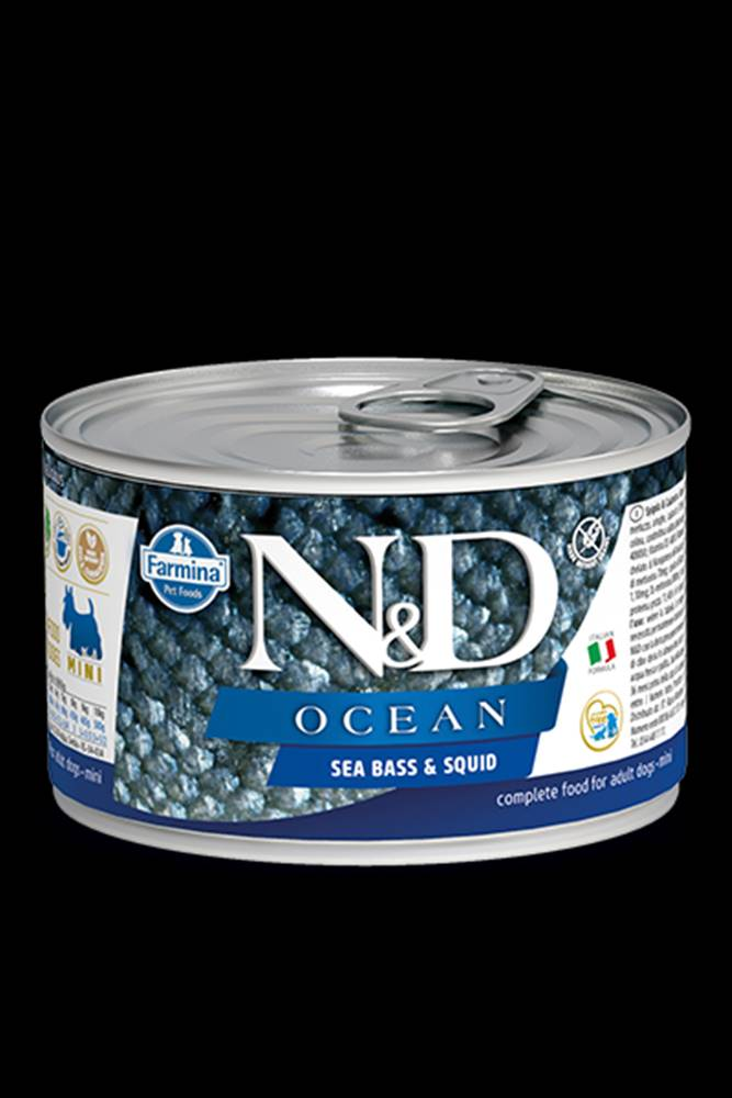 N&D (Farmina Pet Foods) N&D DOG OCEAN Adult Sea Bass & Squid Mini 140g