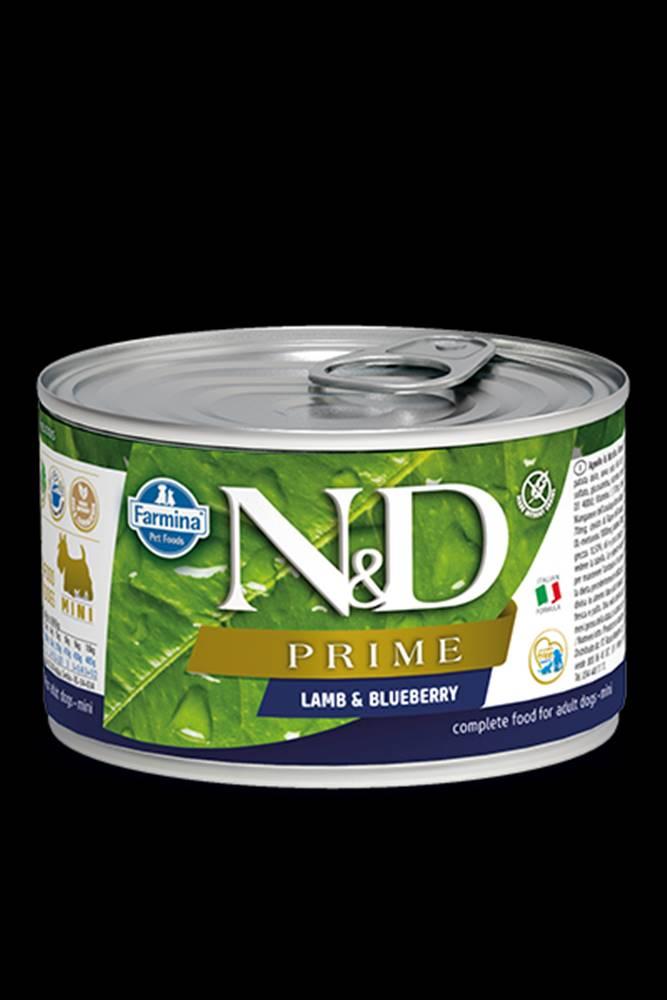 N&D (Farmina Pet Foods) N&D DOG PRIME Adult Lamb & Blueberry Mini 140g