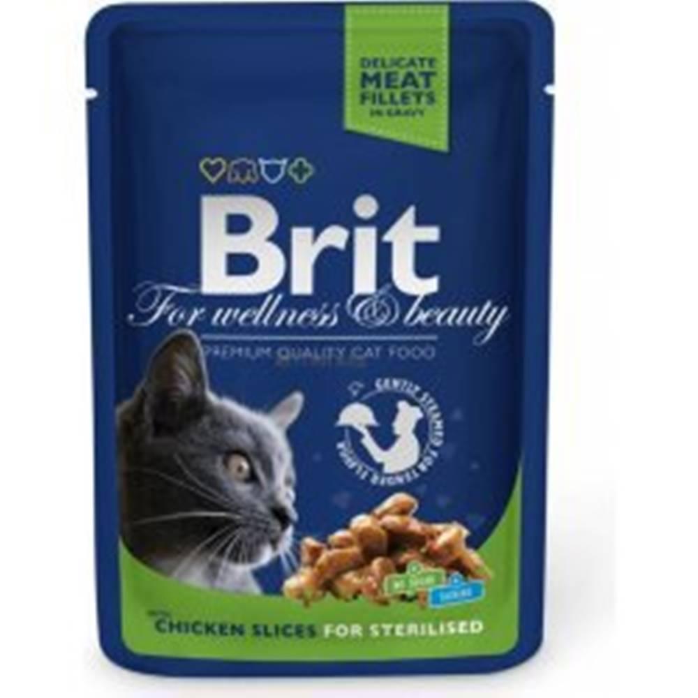Brit Brit Premium Cat kapsa Chicken Slices for Steril 100g
