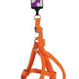 Postroj pes MAC LEATHER oranžová 66cm/20mm Zolux