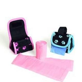 Puzdro nylon čierno-ružový + sáčky KAR 2x20ks