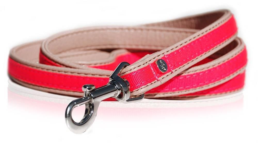 M&P Vodítko kožené Růžové neon 120cm/1,5cm 1ks M&P