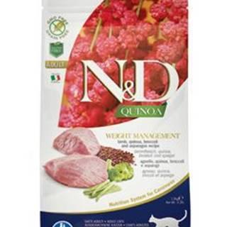 N&D GF Quinoa CAT Weight Mngmnt Lamb & Broccoli 1,5kg