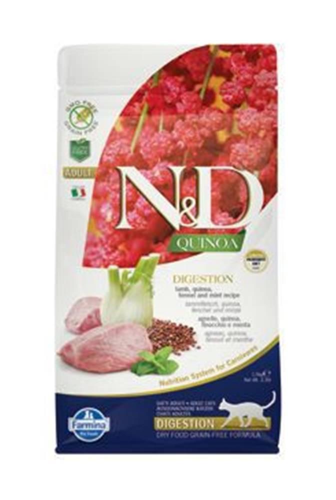 N&D N&D GF Quinoa CAT Digestion Lamb & Fennel 1,5kg