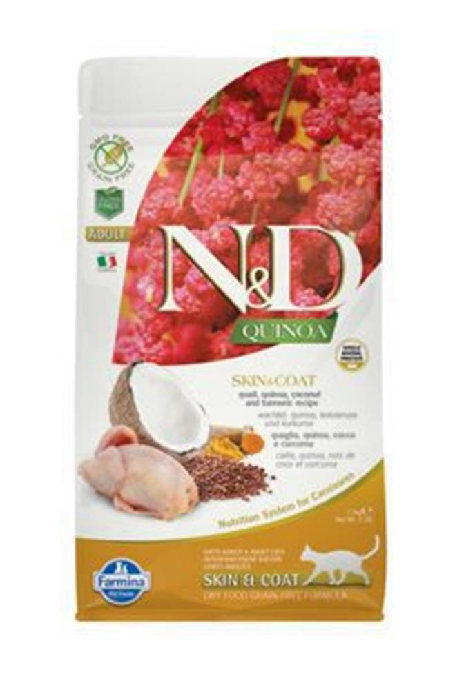 N&D N&D GF Quinoa CAT Skin&Coat Quail & Coconut 1,5kg