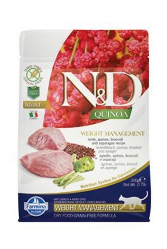 N&D N&D GF Quinoa CAT Weight Mngmnt Lamb & Broccoli 300g