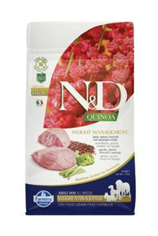 N&D N&D GF Quinoa DOG Weight Mngmnt Lamb & Broccoli 800g