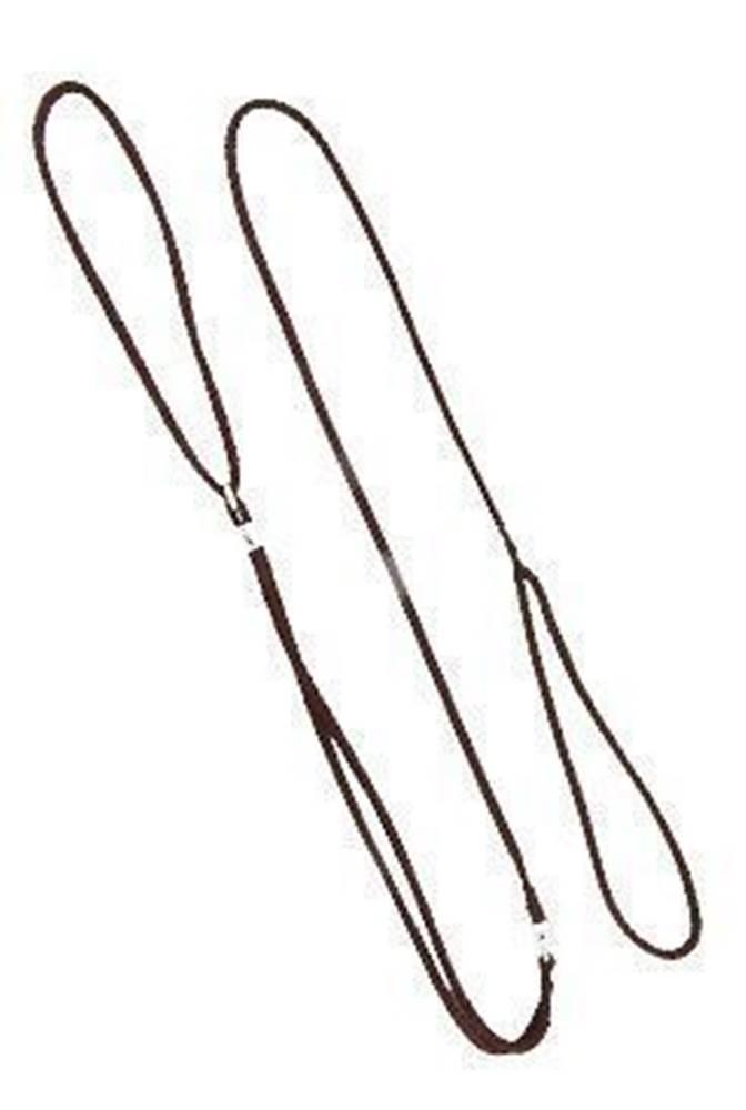 DINOFASHION Vodítko DINOFASHION předváděcí šňůra 130cm/7mm hnědé