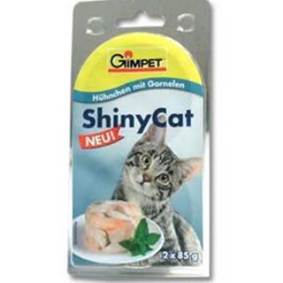 Gimpet kočka konz. ShinyCat  kuře/krevety 2x85g