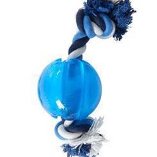 Hračka pes BUSTER Strong Ball s provazem sv. modrá, M