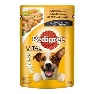 Pedigree kapsa kuřecí a zelenina ve šťávě 100g