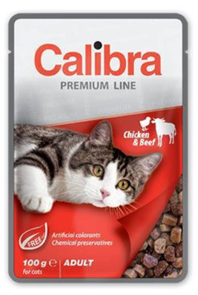 Calibra Calibra Cat  kapsa Premium Adult Chicken & Beef 100g