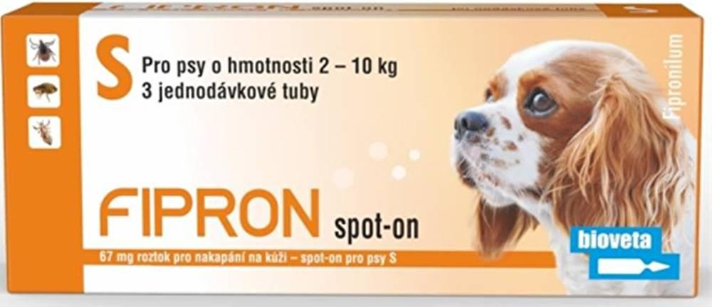 Bioveta Fipron 67mg Spot-On Dog S sol 3x0,67ml