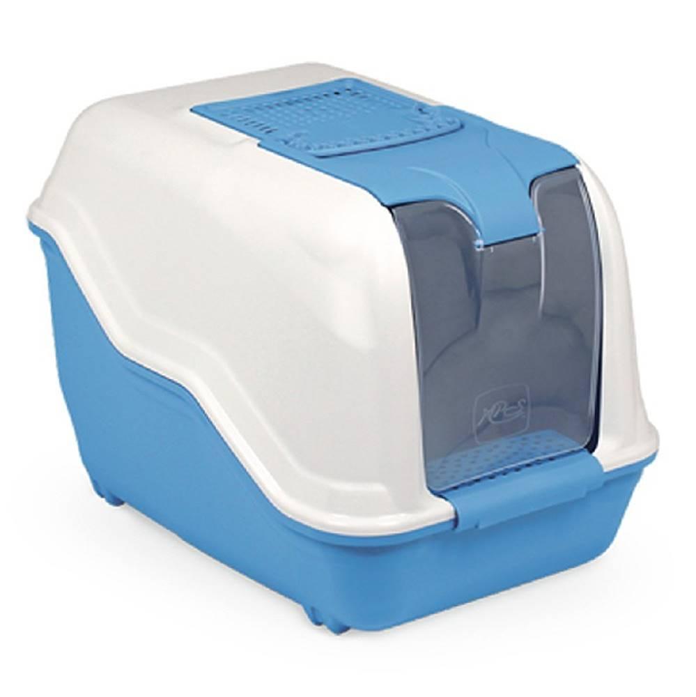 Tommi WC kočka NETTA kryté s filtrem modrá 53x39x40cm
