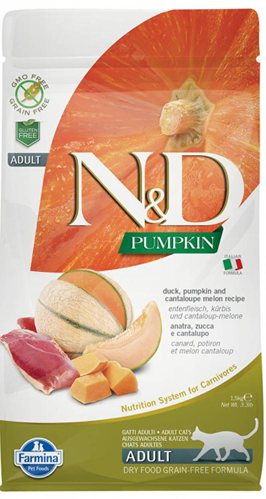 N&D (Farmina Pet Foods) N&D GF Pumpkin CAT Duck & Cantaloupe melon 5kg