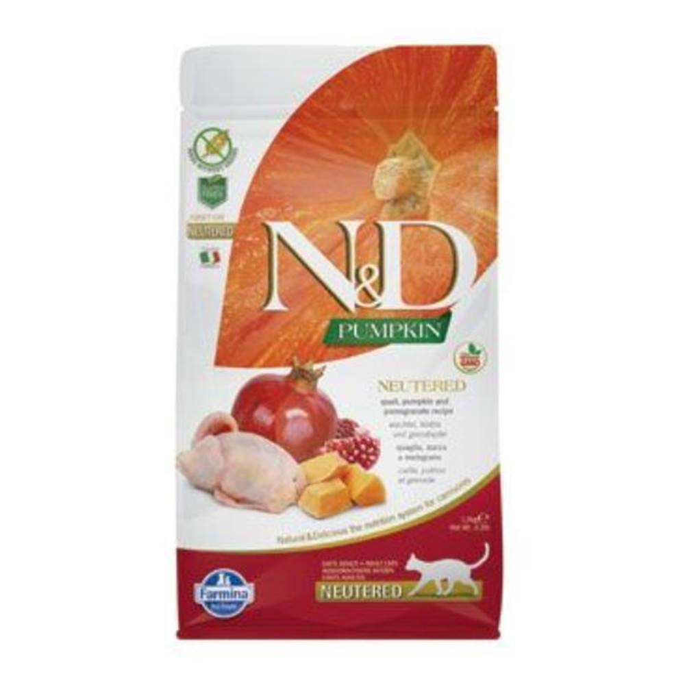 N&D (Farmina Pet Foods) N&D GF Pumpkin CAT NEUTERED Quail & Pomegranate 5kg