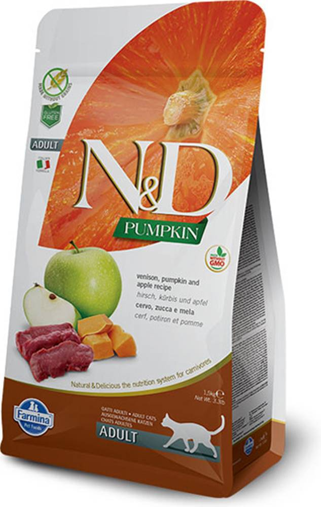 N&D (Farmina Pet Foods) N&D GF Pumpkin CAT Venison & Apple 5kg
