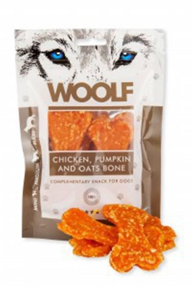 Woolf WOOLF pochoutka large chicken, pumpkin, oats bone 100g