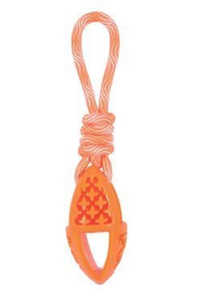 Zolux Hračka pes TPR SAMBA ovál s lanom oranžová Zolux