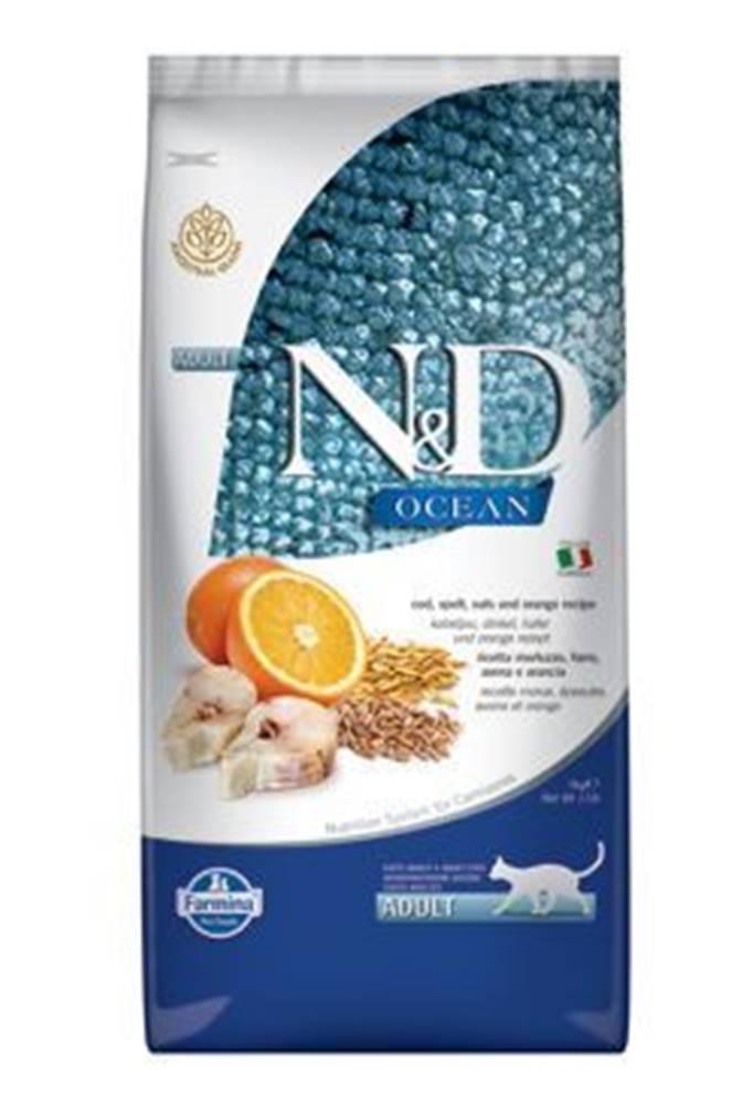 N&D (Farmina Pet Foods) N&D OCEAN CAT LG Adult Codfish & Orange 5kg