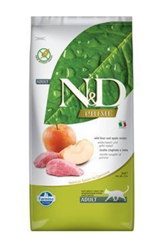 N&D (Farmina Pet Foods) N&D PRIME CAT Adult Boar & Apple 10kg
