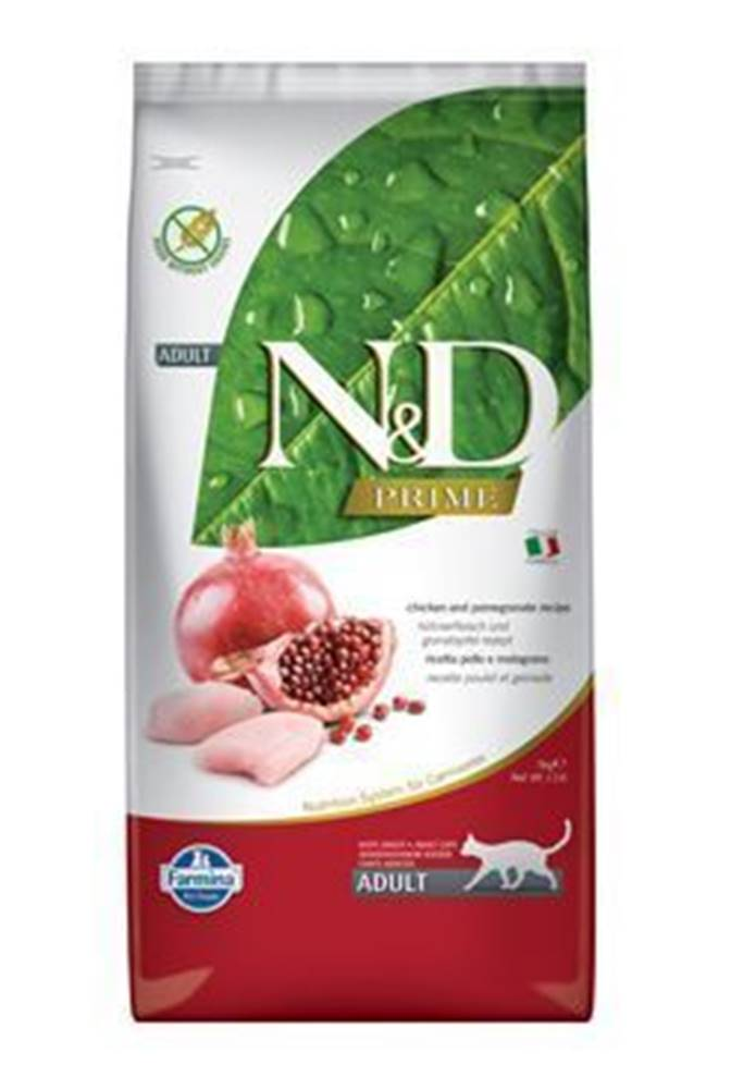 N&D (Farmina Pet Foods) N&D PRIME CAT Adult Chicken & Pomegranate 10kg