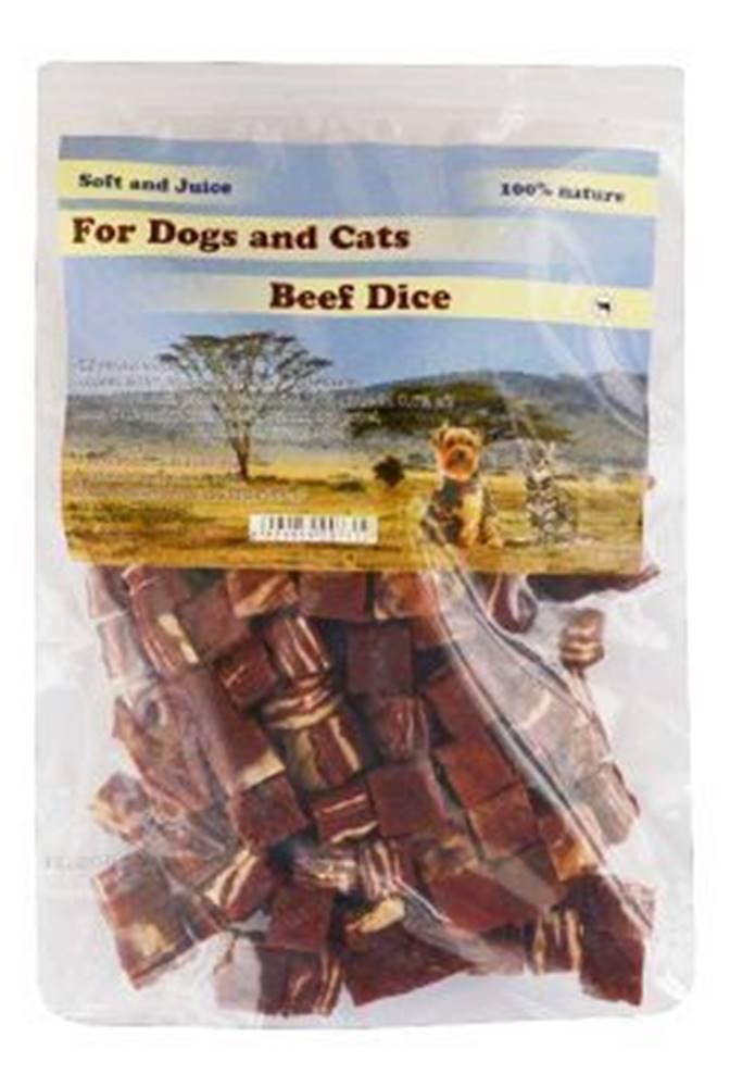 For Dogs and Cats Pochúťka Hovädzie mäso kocky 230g