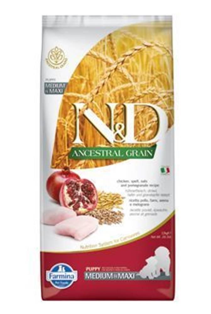 N&D (Farmina Pet Foods) N&D LG DOG Puppy M/L Chicken & Pomegranate 12kg