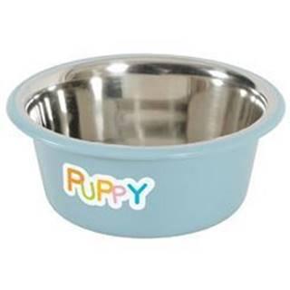 Miska nerez protiskluz pes PUPPY 850ml modrá Zolux