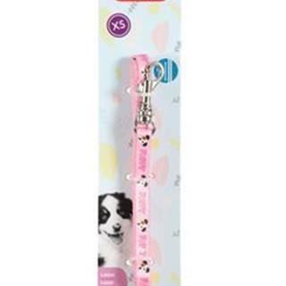 Vodítko pes štěně MASCOTTE růžová 13mm 1,2m Zolux