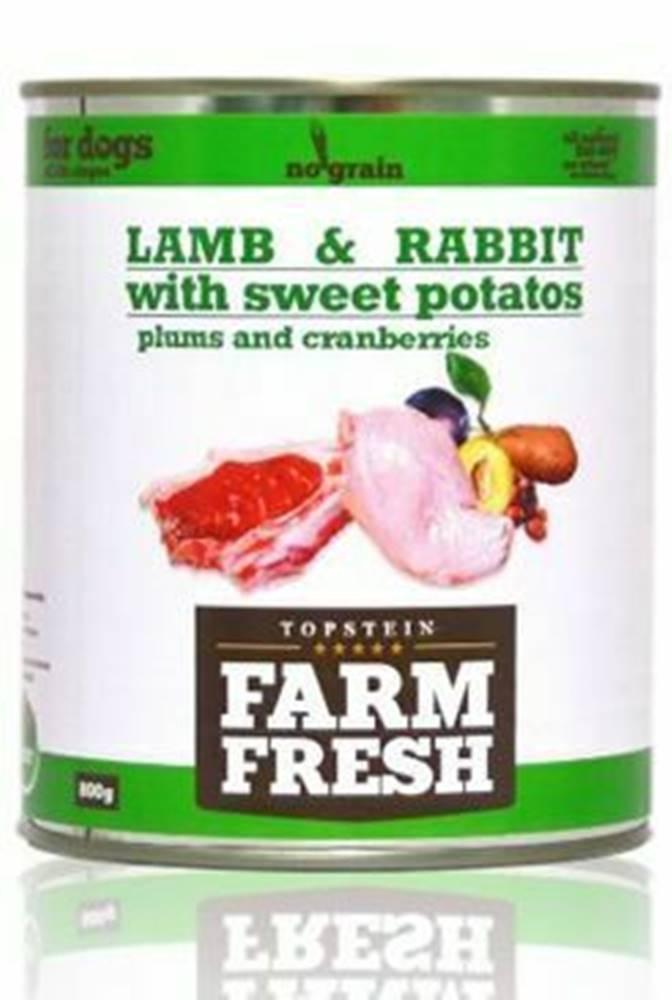 Farm Fresh Farm Fresh Dog Lamb&Rabbit+Sw.Potatoes&Plum konze 800g