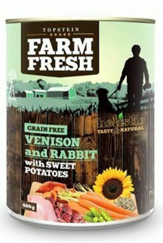Farm Fresh Farm Fresh Dog Venision&Rabit+Sweet Potatoes konz 400g