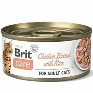 Brit Care Cat konz Fillets Breast&Rice 70g