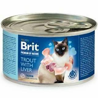 Brit Premium Cat by Nature konz Trout&Liver 200g