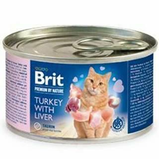 Brit Premium Cat by Nature konz Turkey&Liver 200g